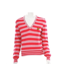 Lyle Scott Golf Pink Lambswool Knitted V-neck Reviews