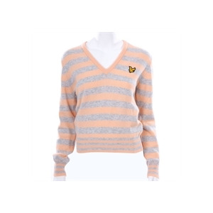 Photo of Lyle & Scott Golf Peach LAMBSWOOL Knitted V-Neck Tops Woman