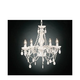 5 Arm White Chandelier With Acrylic Beads Reviews