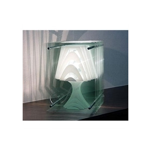 Photo of Reflex Glass Panelled Table Lamp White Lighting