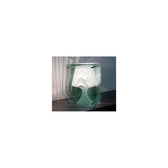 Reflex Glass Panelled Table Lamp White