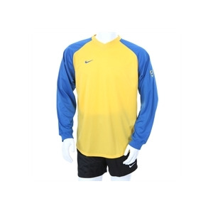 Photo of Nike Long Sleeve Football Top Blue & Yellow Sports and Health Equipment
