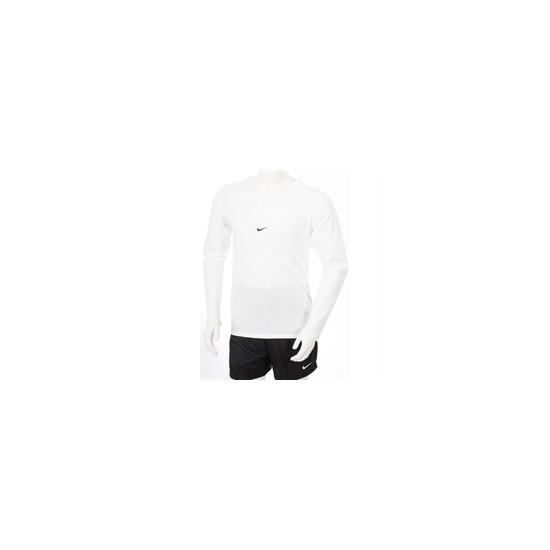 Nike V Neck Long Sleeve T Shirt White
