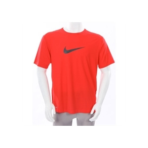 Photo of Nike Dri Fit Large Swoosh T Shirt Red Sports and Health Equipment