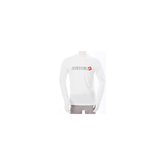 Nike Just Do It Long Sleeve T Shirt White