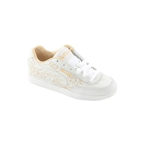 Photo of Duffs Gambler II Etched Trainers White & Cream Trainers Woman