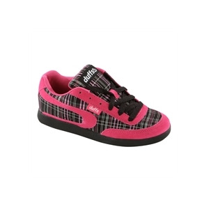 Photo of Duffs Gambler II Plaid Trainers Pink & Black Trainers Man