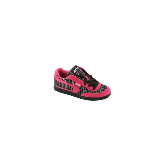 Duffs Gambler II Plaid Trainers Pink & Black