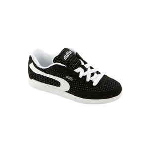 Photo of Duffs Black and White Gambler II Dot Trainers Trainers Man