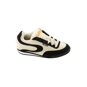 Photo of Duffs Octane Trainers Cream & Black Trainers Man