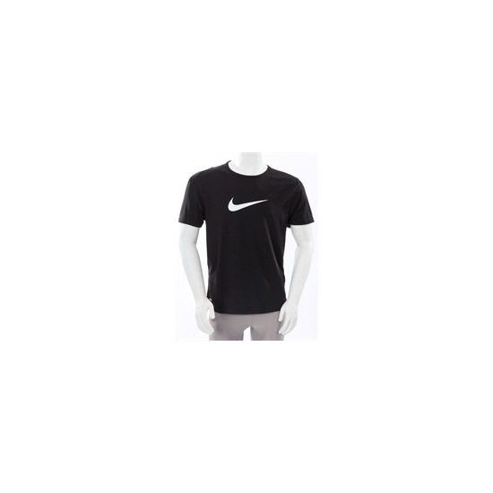 Nike Dri Fit Large Swoosh T Shirt Black