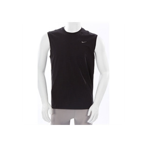 Photo of Nike Sleeveless Crew Neck T Shirt Black T Shirts Man