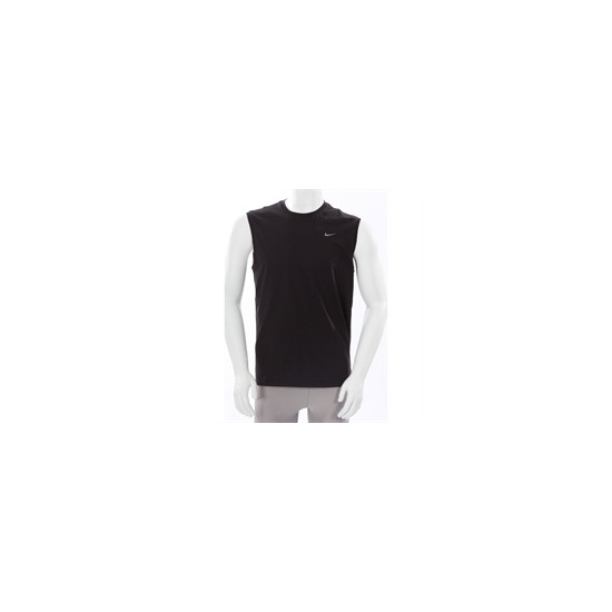 Nike Sleeveless Crew Neck T Shirt Black