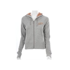 Photo of Nike Grey Checked Hood Zip Sweatshirt Tops Woman