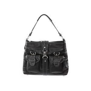 Photo of Dents Black Leather Messenger Style Bag Handbag