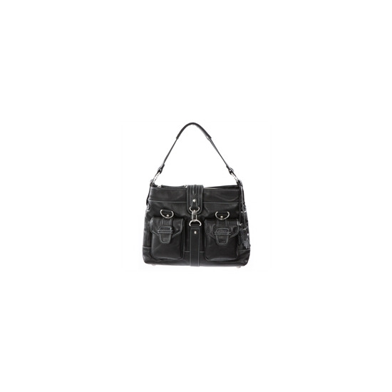Dents Black Leather Messenger Style Bag