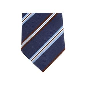 Photo of Altea Stripe Silk Tie Navy Brown Accessory