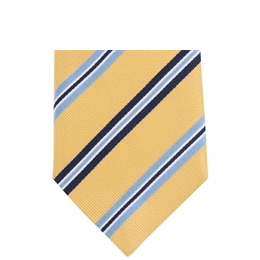 Altea Stripe Silk Tie Yellow Blue Reviews