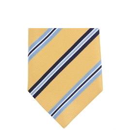 Altea Stripe Silk Tie Yellow Blue Reviews