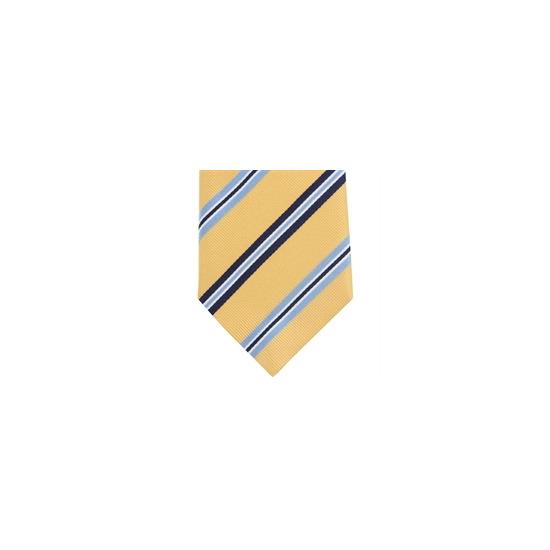 Altea Stripe Silk Tie Yellow Blue