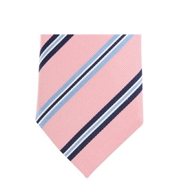 Altea Stripe Silk Tie - Pink Navy Sky Reviews