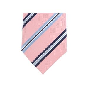 Photo of Altea Stripe Silk Tie - Pink Navy Sky Shirt