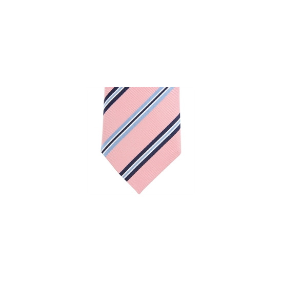 Altea Stripe Silk Tie - Pink Navy Sky