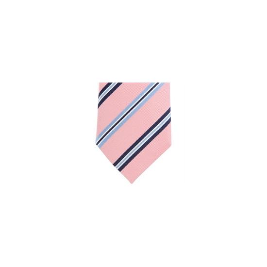 Altea Stripe Silk Tie - Pink Navy Sky