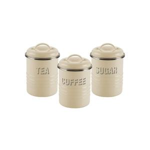Photo of Typhoon Tea  Coffee and Sugar Storage Jars Cream Kitchen Accessory