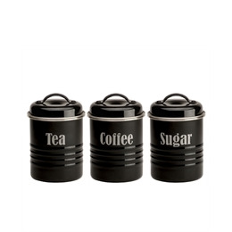 Typhoon Tea  Coffee and Sugar Storage Jars Black Reviews