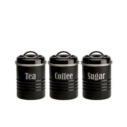 Typhoon Tea  Coffee and Sugar Storage Jars Black Reviews