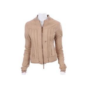 Photo of Firetrap Cream Lamb Nappa Leather Jacket Jackets Woman