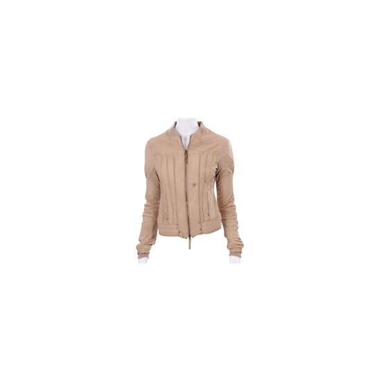 Firetrap Cream Lamb Nappa Leather Jacket