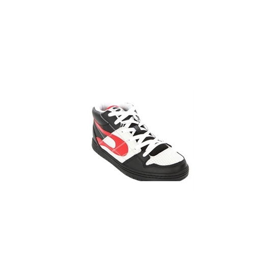 Duffs Skate Black White Mars Red