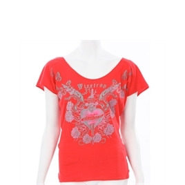 Firetrap Red Open Back Drape T-shirt Reviews