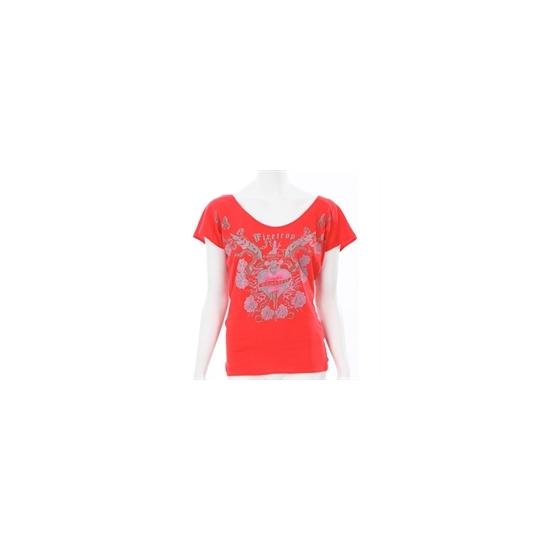 Firetrap Red Open Back Drape T-shirt