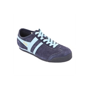 Photo of Gola Classic Navy Pale Blue Suede Harrier Trainer Trainers Man