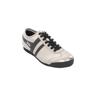 Photo of Ladies' Gola Classic Silver Black Leather Harrier Shoes Woman