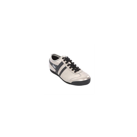 Ladies' Gola Classic Silver Black Leather Harrier