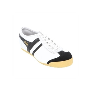 Photo of Gola Classic White Black Leather Harrier Trainer Trainers Man