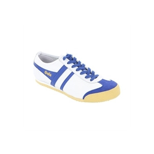 Photo of Gola Classic White Blue Leather Harrier Trainer Trainers Man