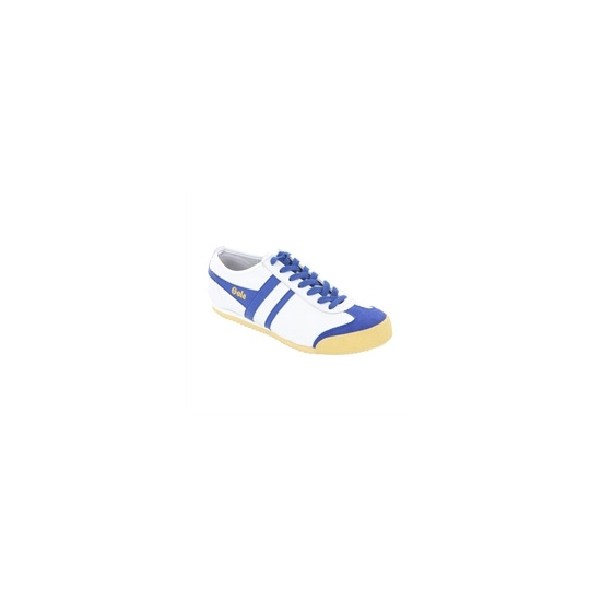 Gola Classic White Blue Leather Harrier Trainer