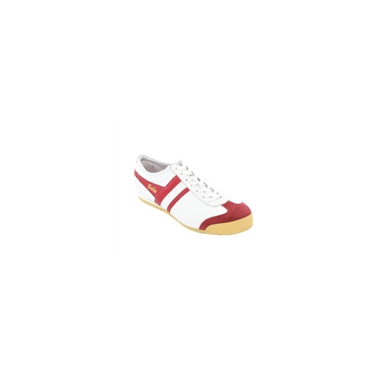Gola Classic White Red Leather Harrier Trainer