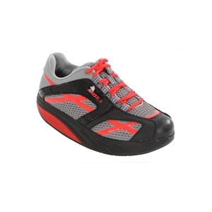 Photo of MBT m Walk Ladies Black and Red Training Shoe Trainers Woman