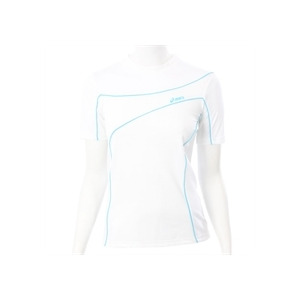 Photo of Asics White Peric Short Sleeve Roll Neck Top T Shirts Woman