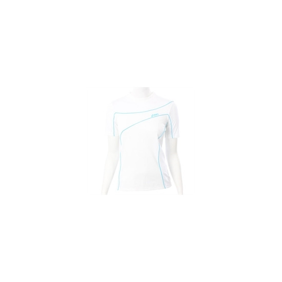 Asics White Peric Short Sleeve Roll Neck Top