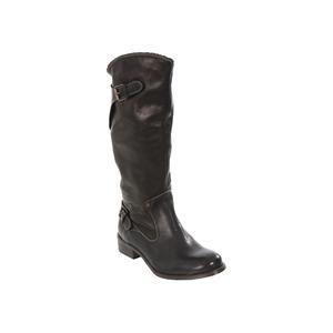 Photo of Diesel Black Amazzone II Calf Length Biker Boot Shoes Woman