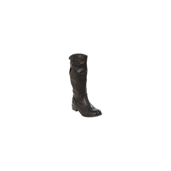 Diesel Black Amazzone II Calf Length Biker Boot