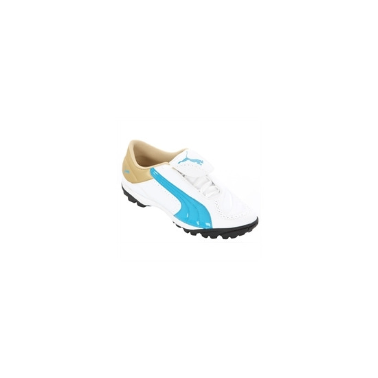 Ladies Puma White Blue Gold V-Kon II TT