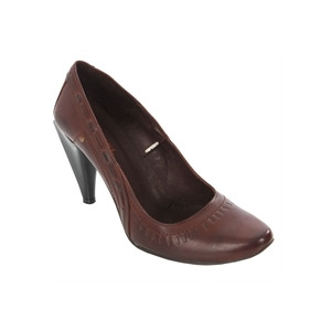 Photo of Diesel Chocolate Stitch Detail Heels Shoes Woman